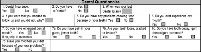 Dental Questionaire